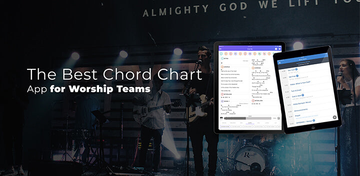 the best paperless digital sheet music chord charts for church praise and worship team leaders