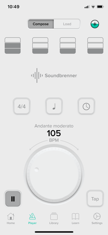 Soundbrenner app with Stomp Bluetooth pedal set up tutorial