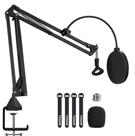 Boom Arm Mic Stand The Best Microphone Setup For Podcasting, Broadcasting, And Livestreaming