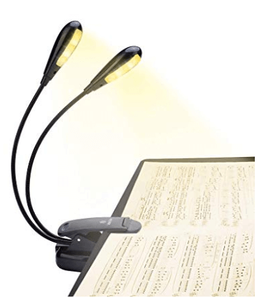 reading music on stage usb light