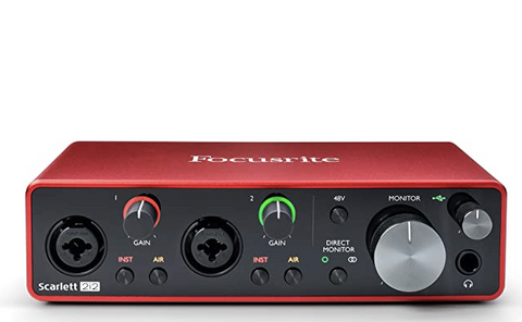 Focusrite Scarlett 2i2 USB Interface The Best Microphone Setup For Podcasting, Broadcasting, And Livestreaming