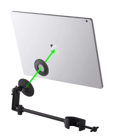 reading music on stage magnetic tablet holder
