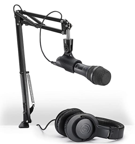Audio Technica AT2005USBPK Podcasting Microphone  The Best Microphone Setup For Podcasting, Broadcasting, And Livestreaming