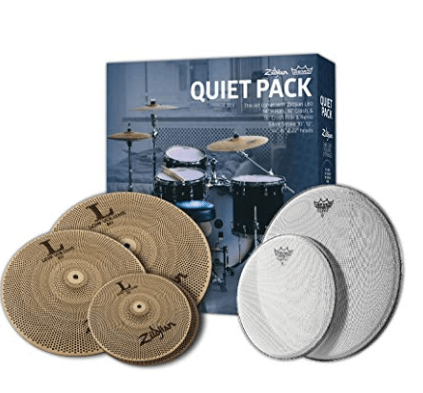 Zildjian L80 Low Noise Cymbal and Remo Silent Stroke Set