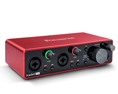 Gift Guide for Keyboard Players Scarlet focusrite 212 audio interface