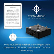 Coda Music Technologies Musical Instruments STOMP Bluetooth® 4.0 Page Turner Pedal & App Controller for Tablets