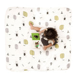 100% Organic Muslin Blanket for Babies & Toddlers - Four Layers of Certified Organic Cotton - Cuddle Bears