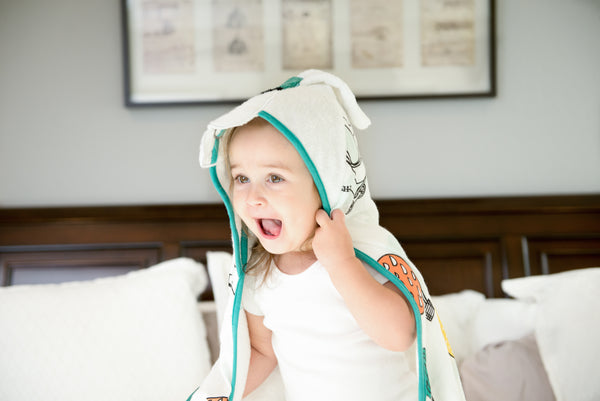 Baby & Toddler Hooded Towel - Luxurious Viscose from Bamboo - Sky Fun