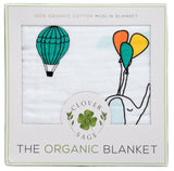 100% Organic Muslin Blanket for Babies & Toddlers - Four Layers of Certified Organic Cotton - Party In The Sky