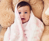 100% Organic Muslin Blanket for Babies & Toddlers - Four Layers of Certified Organic Cotton - Pink Forest