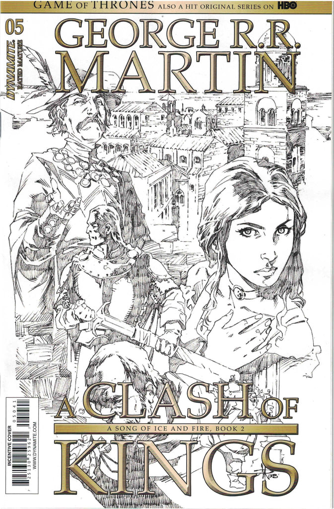 Game Of Thrones A Clash Of Kings #5 1/15 Mel Rubi Sketch Variant