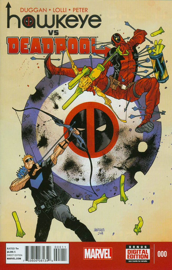 Hawkeye vs Deadpool #0 1st Printing - First Appearance Spider-Gwen & Lady Thor Costumes