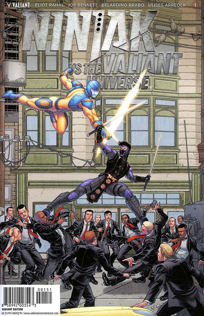 Ninjak vs the Valiant Universe #1 1/20 Francis Portela Interlocking Variant