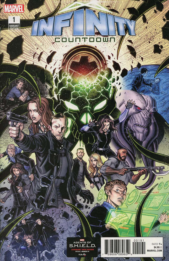 Infinity Countdown #1 1/10 Agents Of Shield Road To 100 Variant