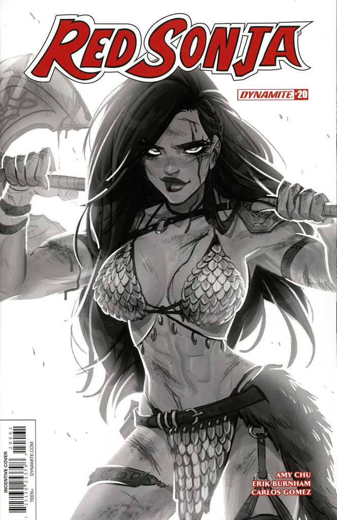 Red Sonja #20 1/10 Babs Tarr Black & White Variant