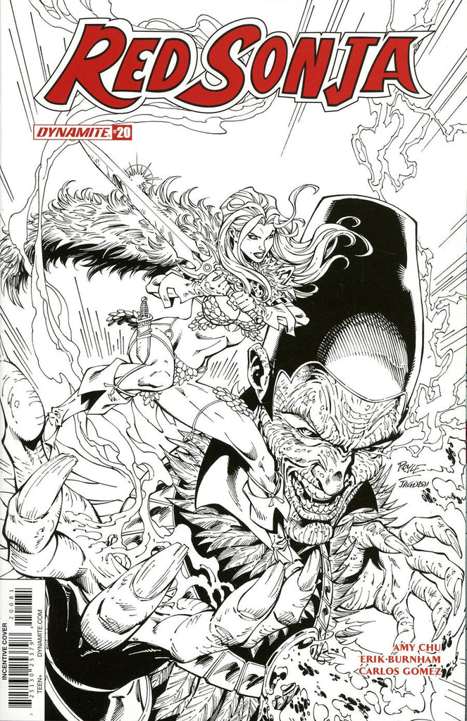 Red Sonja #20 1/30 Copy John Royale Black & White Variant