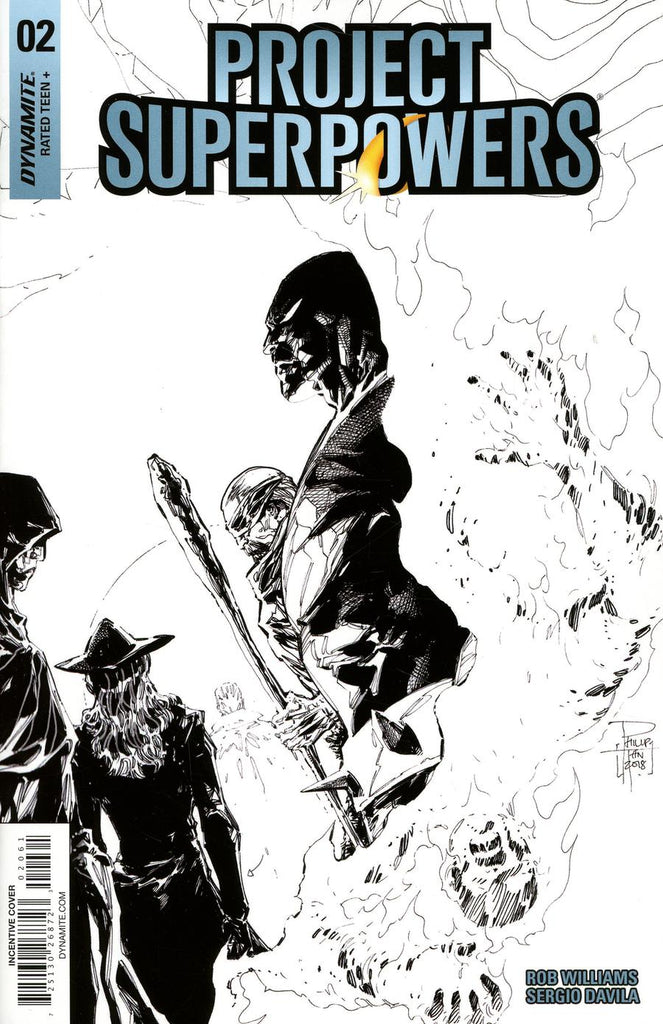 Project Superpowers #2 1/10 Philip Tan Black & White Variant