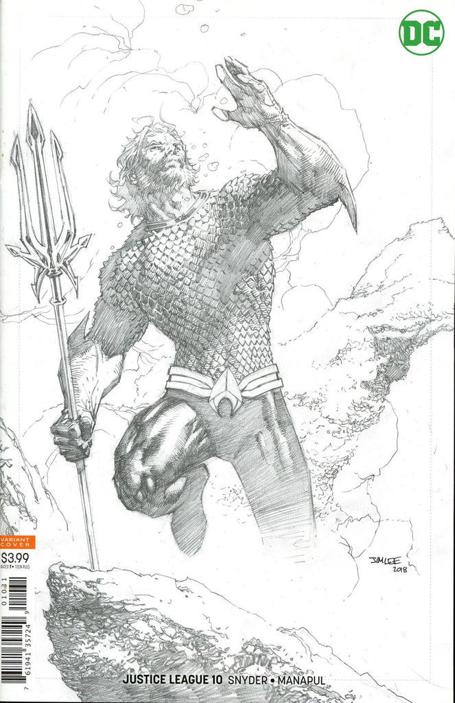 Justice League #10 1/25 Jim Lee Aquaman Sketch Variant