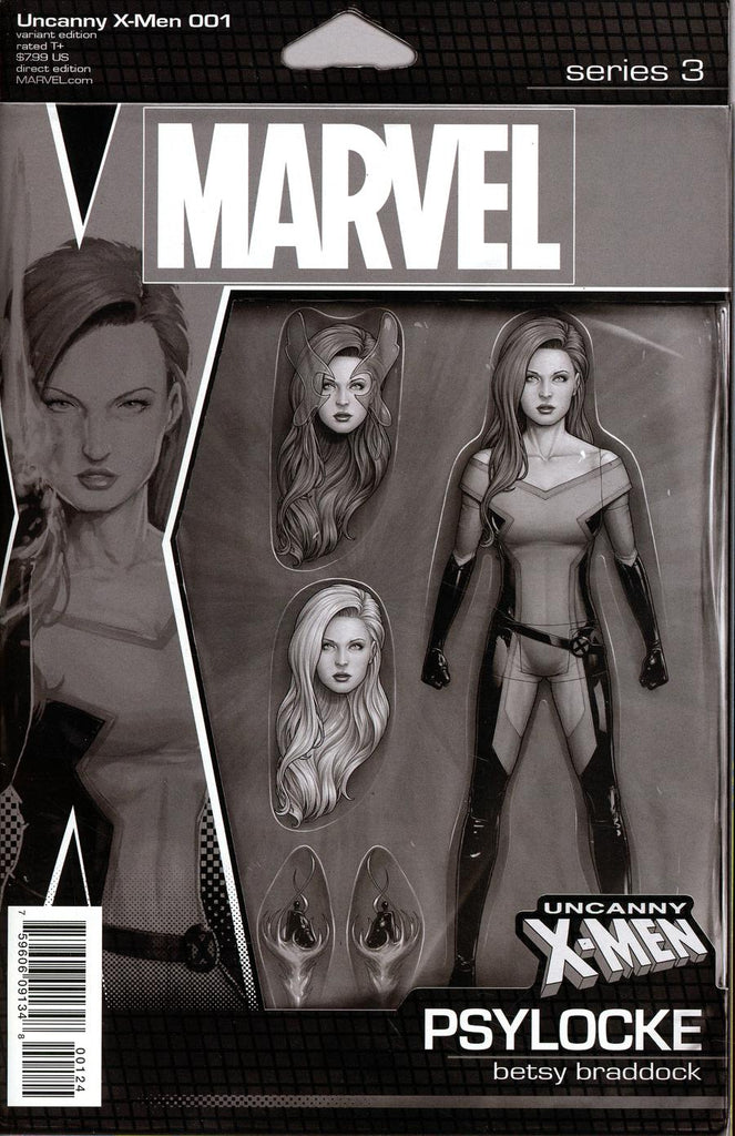 Uncanny X-Men #1 John Tyler Christopher Action Figure Party Black & White Variant