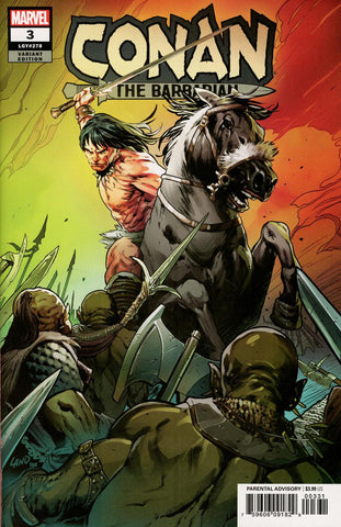 Conan The Barbarian #3 1/25 Greg Land Variant