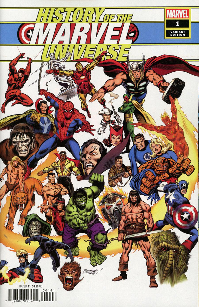History of the Marvel Universe #1 1/100 John Buscema Hidden Gem Variant