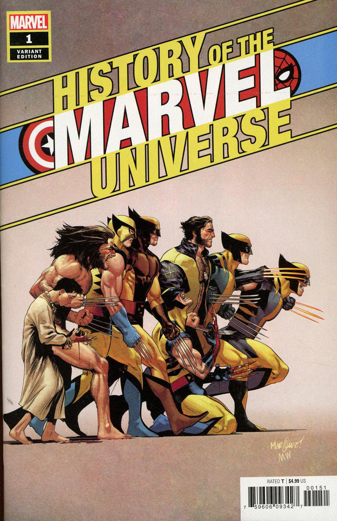 History of the Marvel Universe #1 1/50 David Marquez Wolverine Timeline Variant