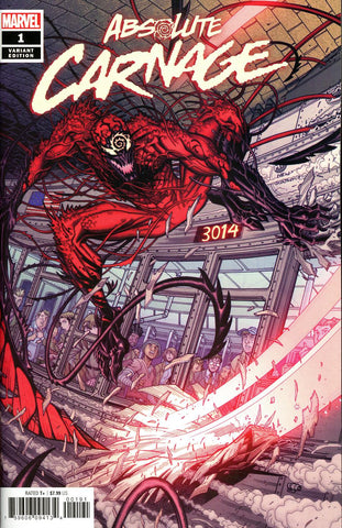 Absolute Carnage #1 1/50 Nick Bradshaw Variant
