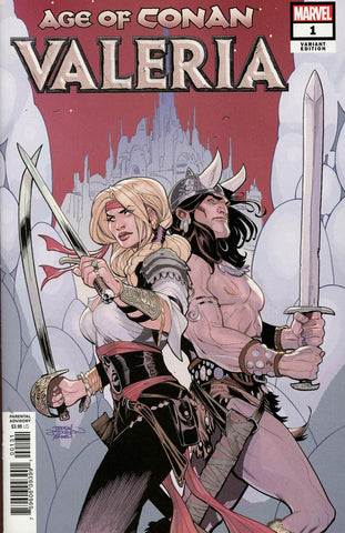 Age of Conan Valeria #1 1/25 Terry Dodson Red Nails Variant