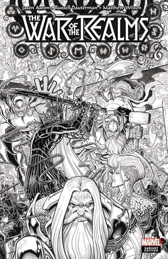 War of the Realms #6 1/200 Arthur Adams Black & White Variant