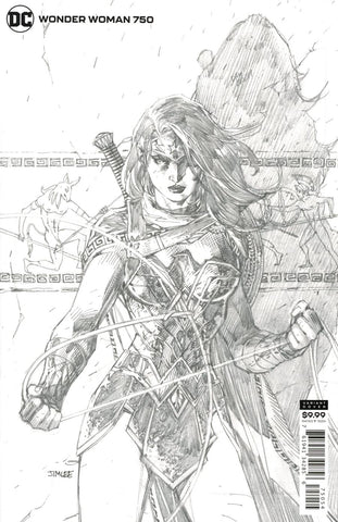 Wonder Woman #750 1/100 Jim Lee Sketch Variant