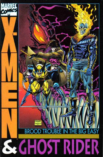 X-Men & Ghost Rider - Brood Trouble in the Big Easy (Vol 1 1993) #1 CVR A