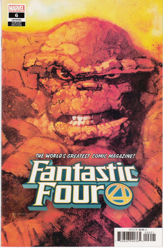 Fantastic Four #6 1/50 Bill Sienkiewicz Thing Variant
