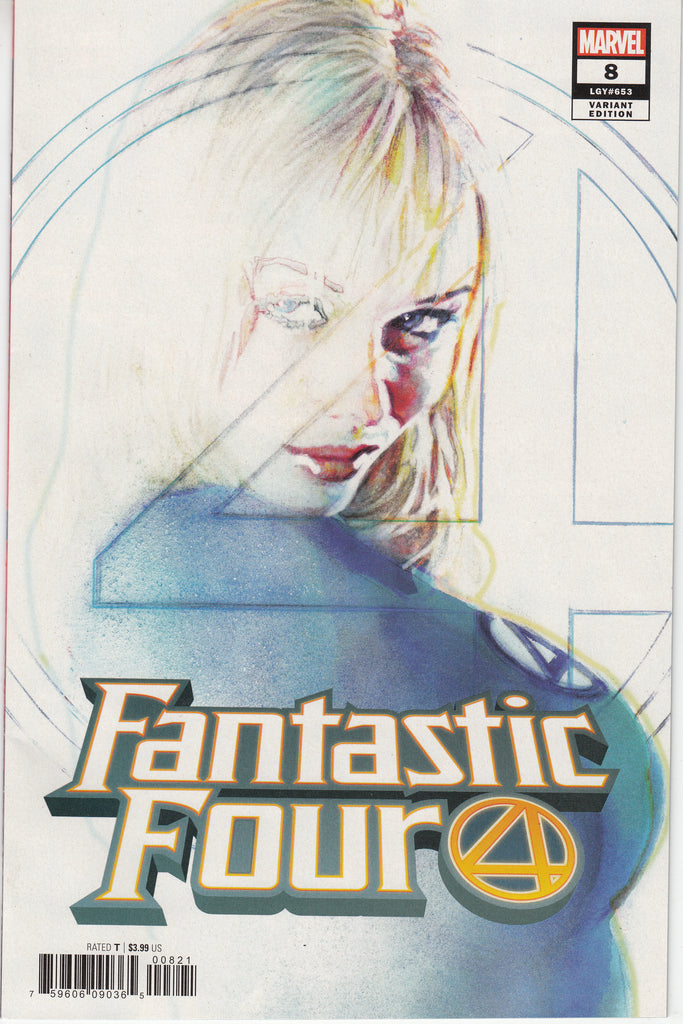 Fantastic Four #8 1/25 Bill Sienkiewicz Invisible Woman Variant