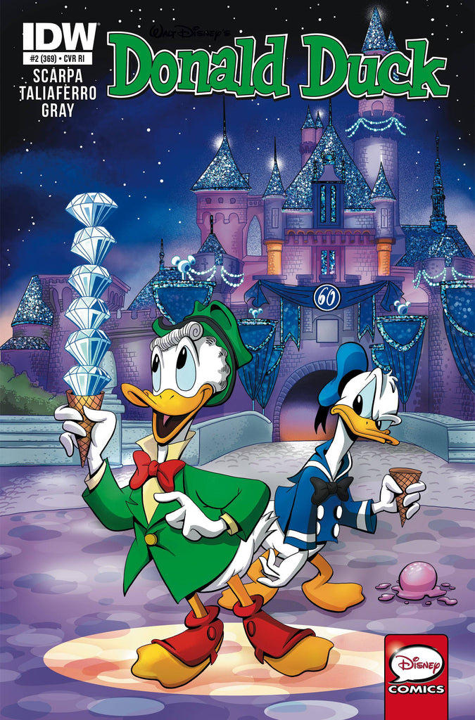 Donald Duck #2 1/25 James Silvani Disney Legacy Disneyland 60th Anniversary Variant