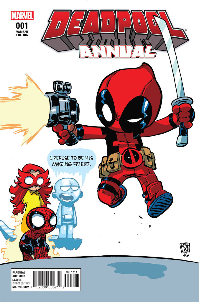 Deadpool Annual #1 Skottie Young Spider-Man & His Amazing Friends Variant