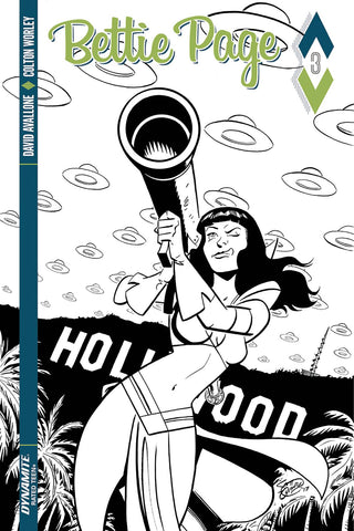 Bettie Page #3 1/10 Scott Chantler Black & White Variant