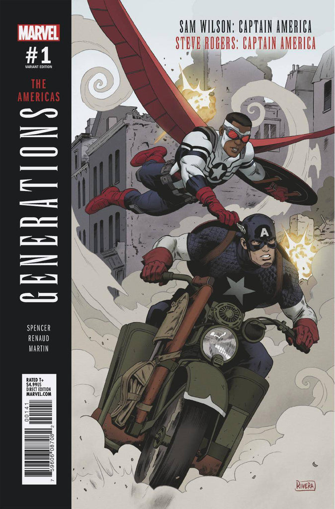 Generations Captain Americas #1 1/25 Paolo Rivera Variant