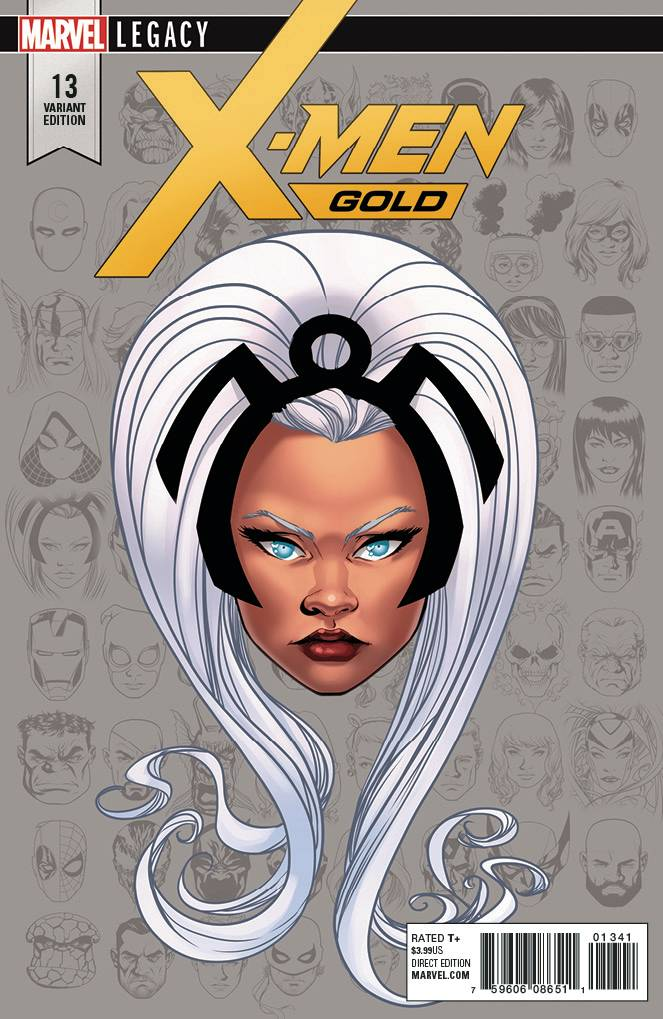 X-Men Gold #13 1/10 Mike Mckone Storm Headshot Variant