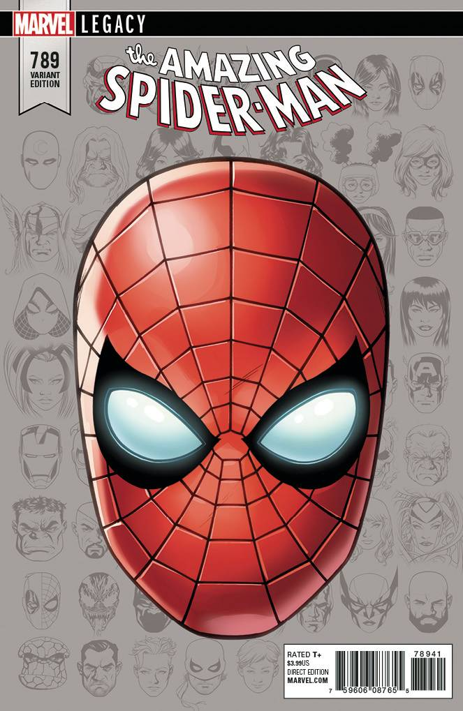 Amazing Spider-Man #789 1/10 Mike Mckone Spider-Man Headshot Variant