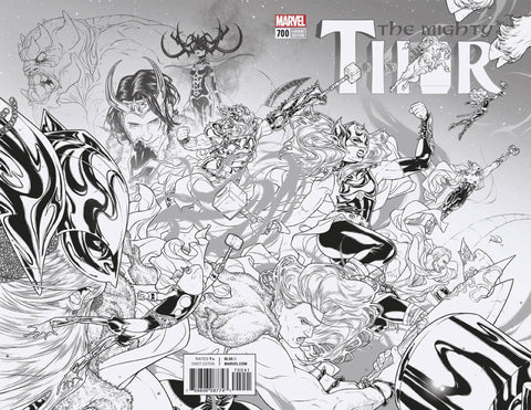 Mighty Thor #700 1/100 Russell Dauterman Black & White Variant