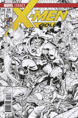 X-Men Gold #13 1/50 Arthur Adams Black & White Connecting Variant