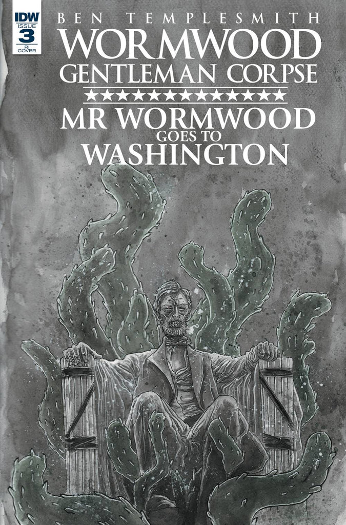 Wormword Gentleman Corpse Wormwood Goes To Washington #3 1/10 Ben Templesmith Variant
