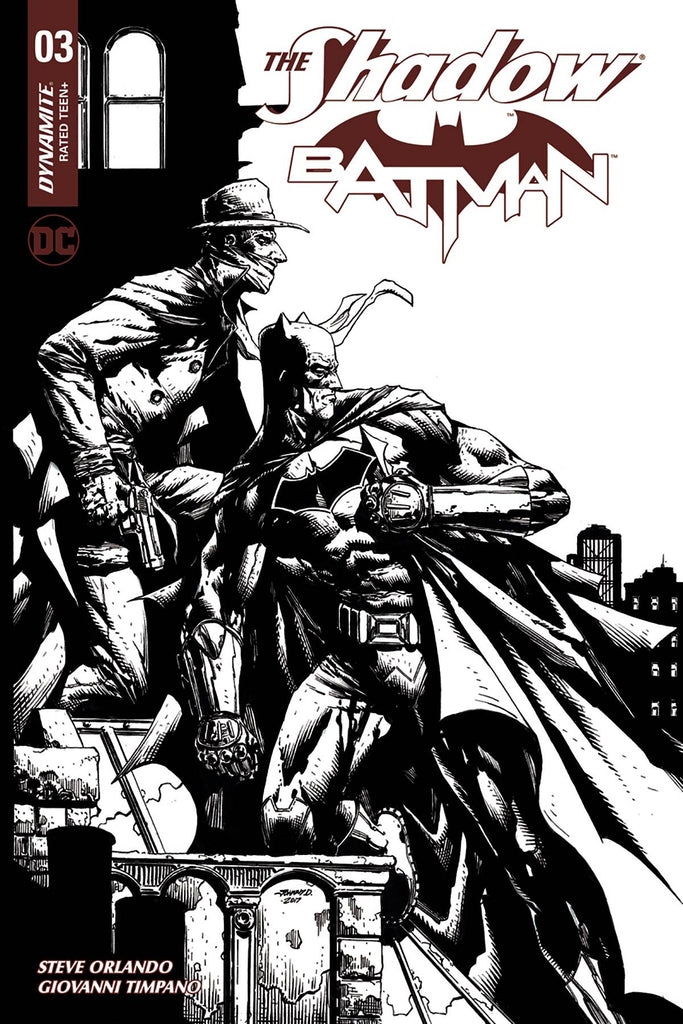 The Shadow Batman #3 1/30 Johnny Desjardins Black & White Variant