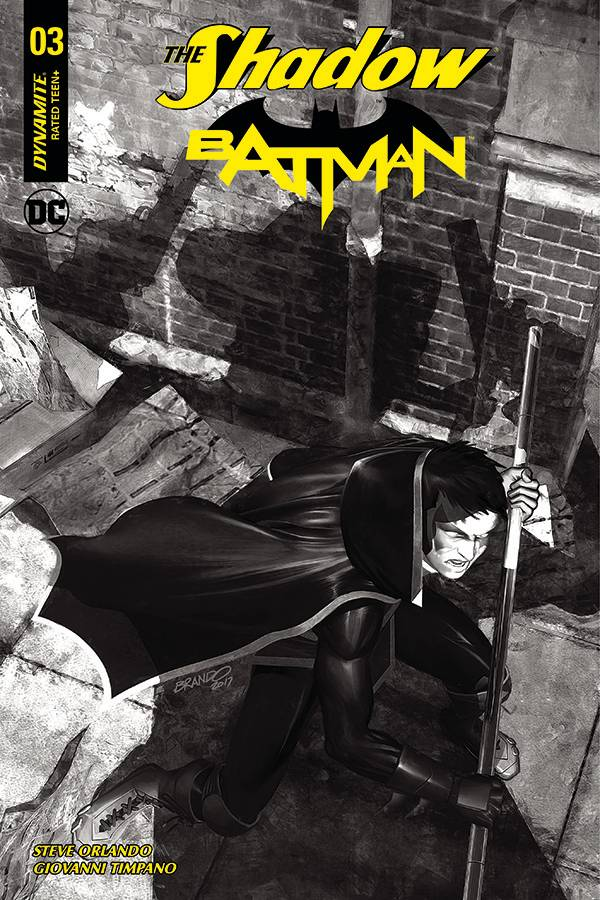 The Shadow Batman #3 1/40 Brandon Peterson Black & White Variant