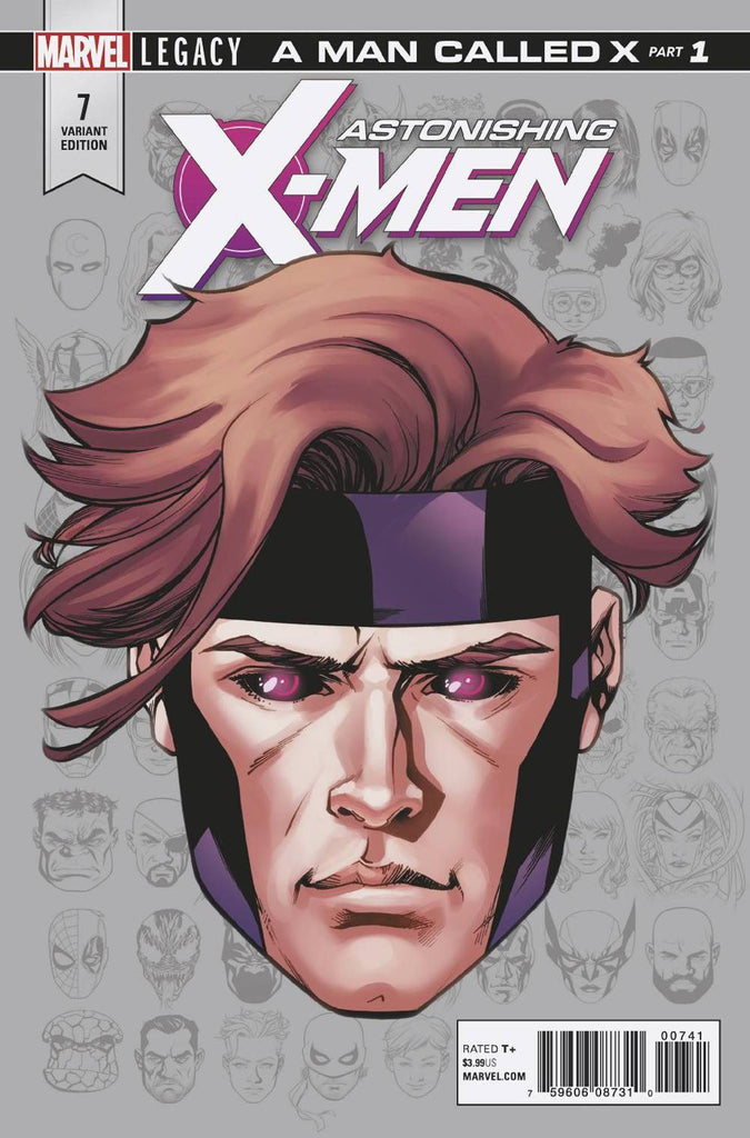 Astonishing X-Men #7 1/10 Mike McKone Headshot Gambit Variant