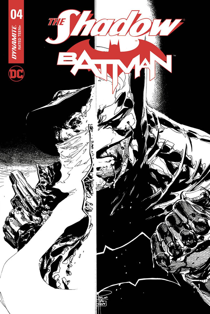 The Shadow Batman #4 1/10 Philip Tan Black & White Variant