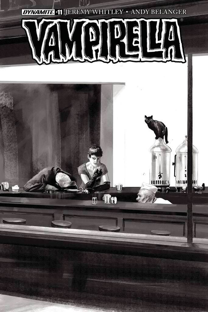 Vampirella #11 1/30 Copy Jimmy Broxton Black & White Nighthawks Variant
