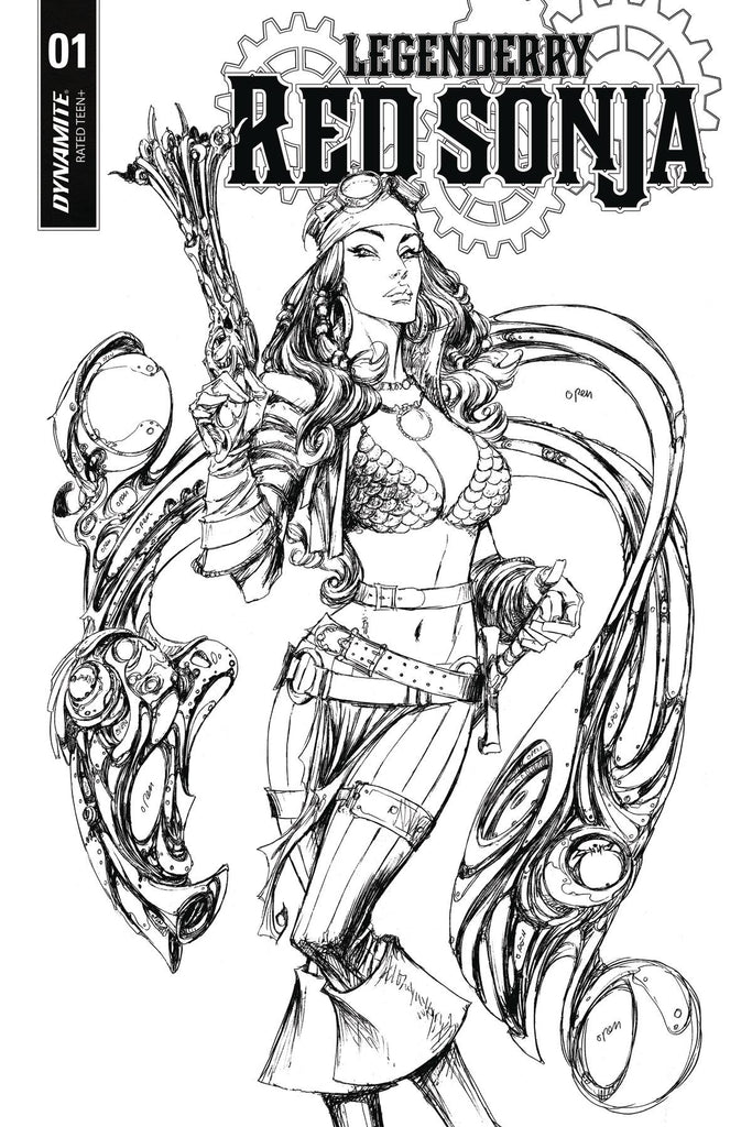 Legenderry Red Sonja #1 1/10 Joe Benitez Black & White Variant
