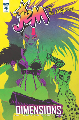 Jem & The Holograms Dimensions #4 1/10 Eliza Frye Variant
