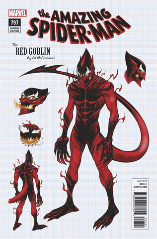 Amazing Spider-Man #797 1/10 Ed McGuinness Red Goblin Design Variant